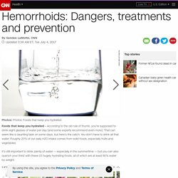 Hemorrhoids: Dangers, treatments and prevention