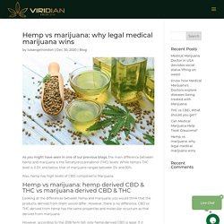 Hemp Vs Marijuana: Why Legal Medical Marijuana Wins