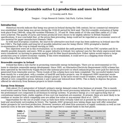 Hemp production and uses in Ireland