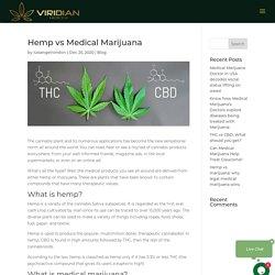 Hemp Vs Medical Marijuana