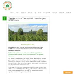 The Hempture Team @ Wicklows largest HEMP farm – Hempture.ie OFFICIAL SITE