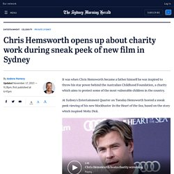 Chris Hemsworth opens up about charity work during sneak peek of new film in Sydney