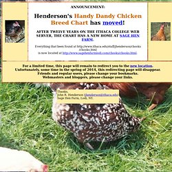 Henderson's Chicken Breed Chart