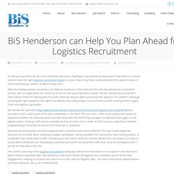 BiS Henderson can Help You Plan Ahead for Logistics Recruitment