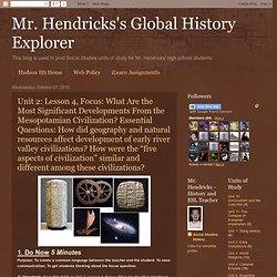 Mr. Hendricks's Global History Explorer: Oct 27, 2010