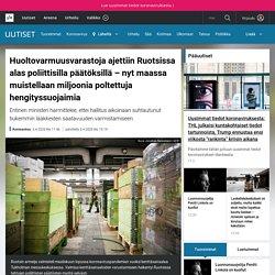 Huoltovarmuusvarastoja ajettiin Ruotsissa alas poliittisilla päätöksillä – nyt maassa muistellaan miljoonia poltettuja hengityssuojaimia