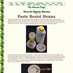 How apply henna: Resist techniques
