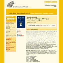 Hénologie, ontologie et Ereignis
