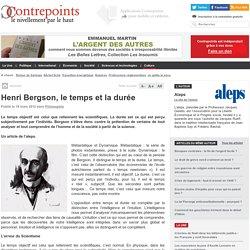 Henri Bergson, le temps et la durée