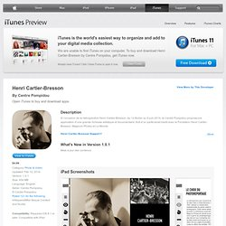 Henri Cartier-Bresson on the App Store on iTunes