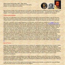 contexte historique 1553-1610 HENRI IV