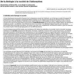 Henri Laborit, La nouvelle grille, Folio