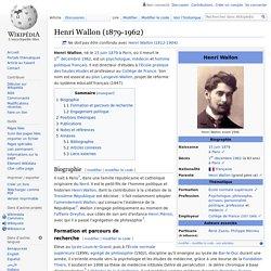 Henri Wallon (1879-1962)