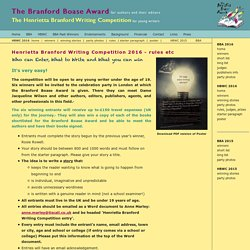 Henrietta Branford Writing Competition Rules