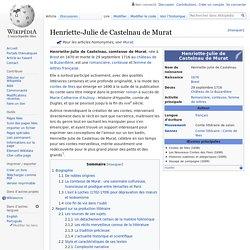 Henriette-Julie de Castelnau de Murat