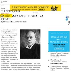 Henry James and the Great Y.A. Debate