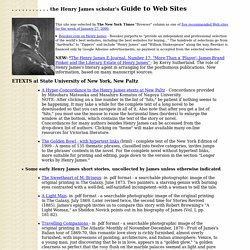 the Henry James scholar's Guide to Web Sites * R. Hathaway *