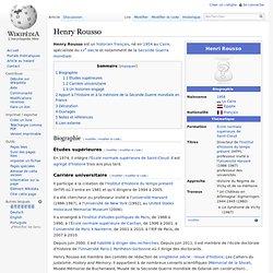 Henry Rousso historien né en 1954