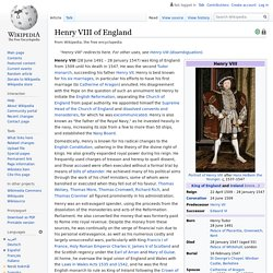 Henry VIII of England - Wikipedia
