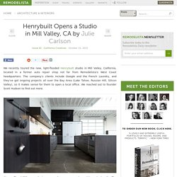 Henrybuilt Opens a Studio in Mill Valley, CA: Remodelista