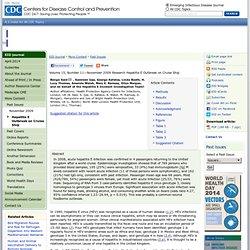 CDC EID - SEPT 2009 - Hepatitis E Outbreak on Cruise Ship