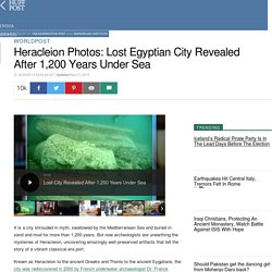 Heracleion Photos: Lost Egyptian City Revealed After 1,200 Years Under Sea