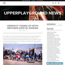 Herakut Teams Up With Refugee Kids in Jordan