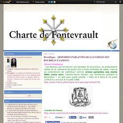 Heraldique . ARMOIRIES PARLANTES DE LA FAMILLE DES BOURREAUX SAMSON. - charte.de.fontevrault.over-blog.com