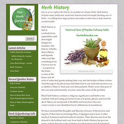 Herb History and Folklore