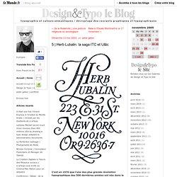 Herb Lubalin: la saga ITC et U&lc - design et typo - Blog LeMonde.fr