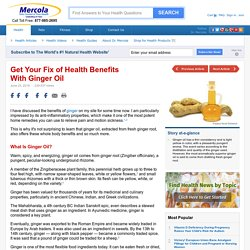 Herbal Oil: Ginger Oil Benefits and Uses
