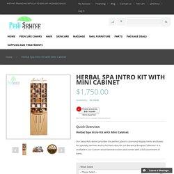 Herbal Spa Intro Kit with Mini Cabinet - Nail Salon Furniture