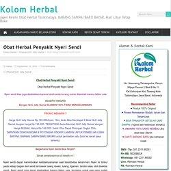 Obat Herbal Penyakit Nyeri Sendi Lutut, Jari Tangan, Bahu yang AMPUH