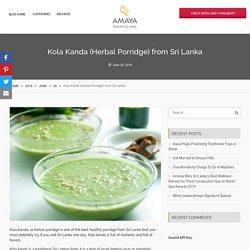 Herbal Porridge from Sri Lanka