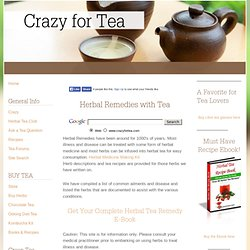 Herbal Remedies - Herbal Tea Remedies to heal common conditions