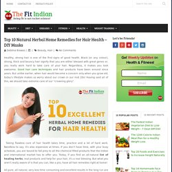 10 Best Herbal Home Remedies for all Types of Hair - Natural Care