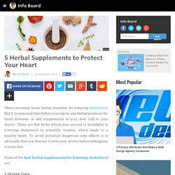 Info Board - 5 Herbal Supplements to Protect Your Heart
