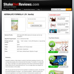 Sugar content in herbalife shakes