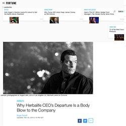 Herbalife CEO Michael Johnson Departure Is Huge Blow
