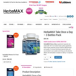HerbaMAX Take Once a Day – 3 Bottles Pack - HerbaMAX