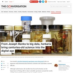 From Joseph Banks to big data, herbaria bring centuries-old science into the digital age