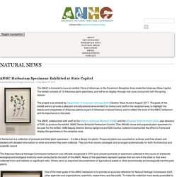 ANHC Herbarium Specimens Exhibited at State Capitol