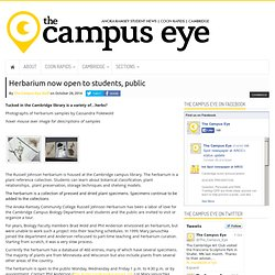 Herbarium now open to students, public – The Campus Eye