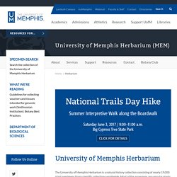 Home - Herbarium - University of Memphis