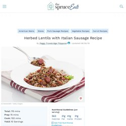 Herbed Lentils with Italian Sausage Recipe