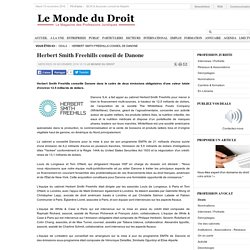 Herbert Smith Freehills conseil de Danone