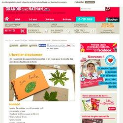 L'herbier de l'automne, un bricolage facile à faire avec les enfants