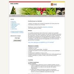 Herbier Louis-Marie: Confectionner un herbier