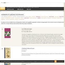HERBIERS ET JARDINS D'ECRIVAINS - Liste de 22 livres - Babelio