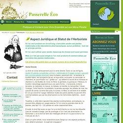 Aspect Juridique et Statut de l'Herboriste - Flore Sauvage et Médicinale